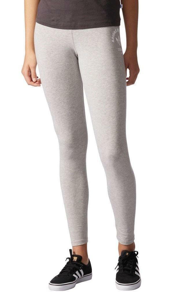 adidas adidas leggings donna elasticizzati grigi