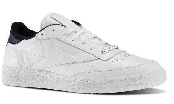 reebok club c 85 el scarpe sportive uomo bianche pelle v69646