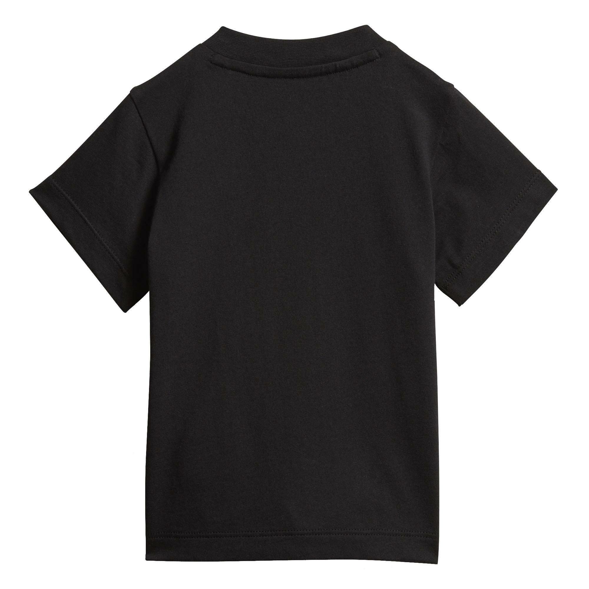 adidas trefoil tee t-shirt bambino nera dv2829