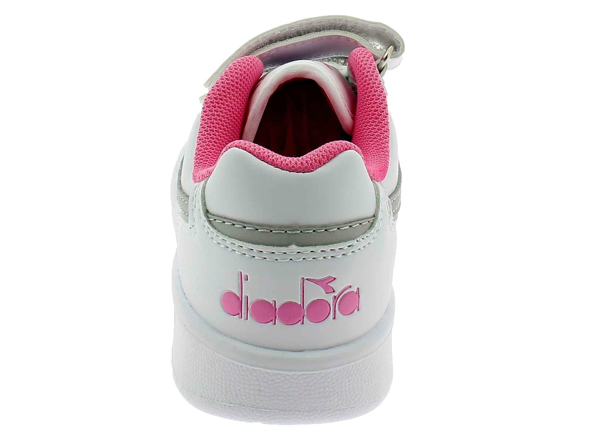 diadora playground ps scarpe sportive bambina bianche 17330075042