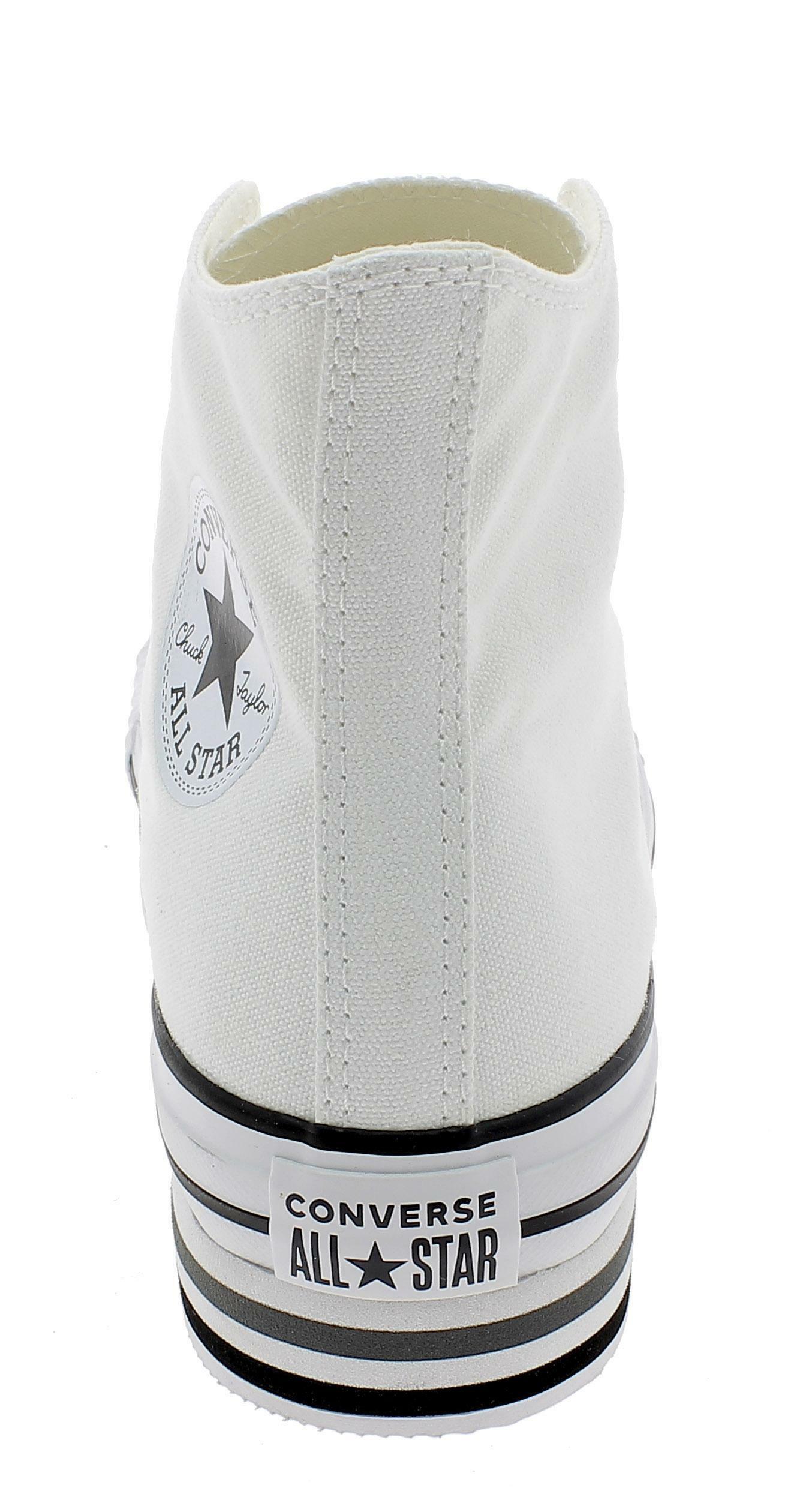 96968f4dcd Converse ctas platform layer hi scarpe sportive donna bianche 564485c