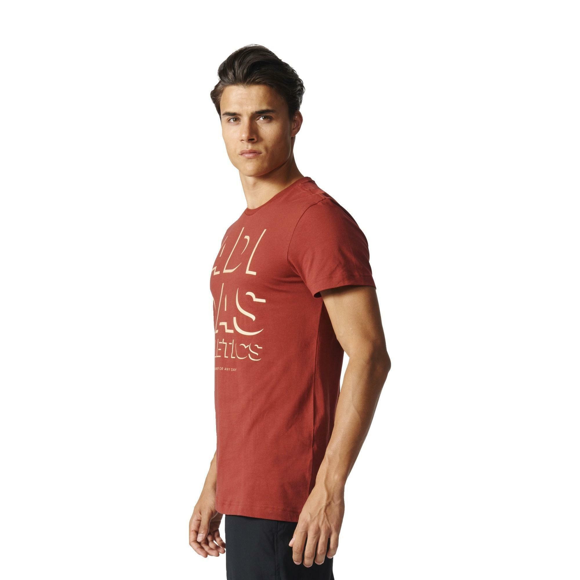 adidas adidas athletics t-shirt uomo rossa b45734