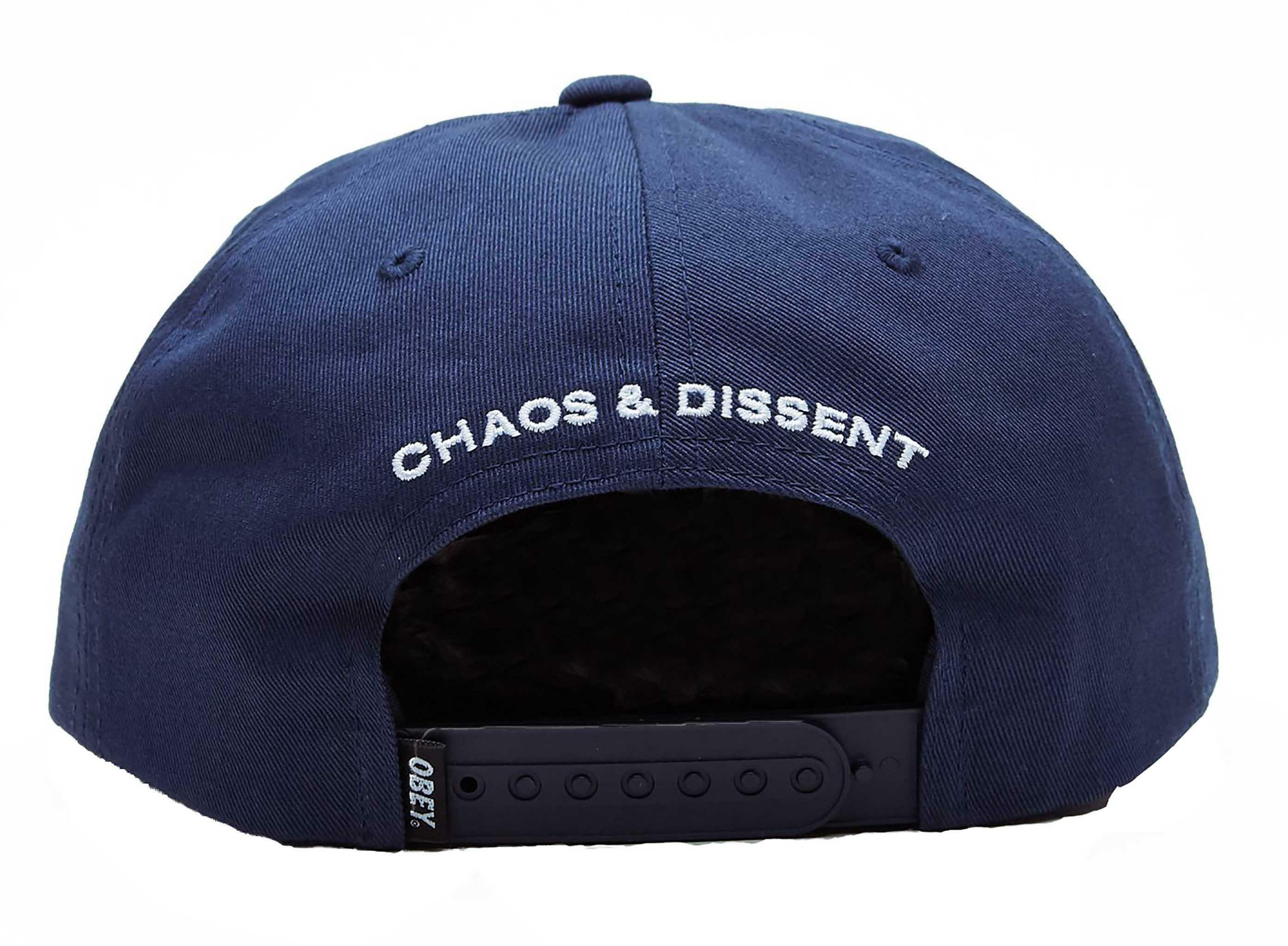 obey obey dropout snapback cappello uomo blu 22119a037nvy