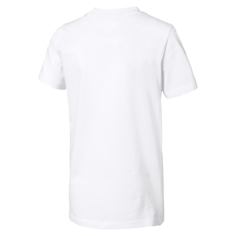 8f01e0d320b PUMA REBEL BOLD TEE T-SHIRT BOY'S WHITE 85444202 | eBay
