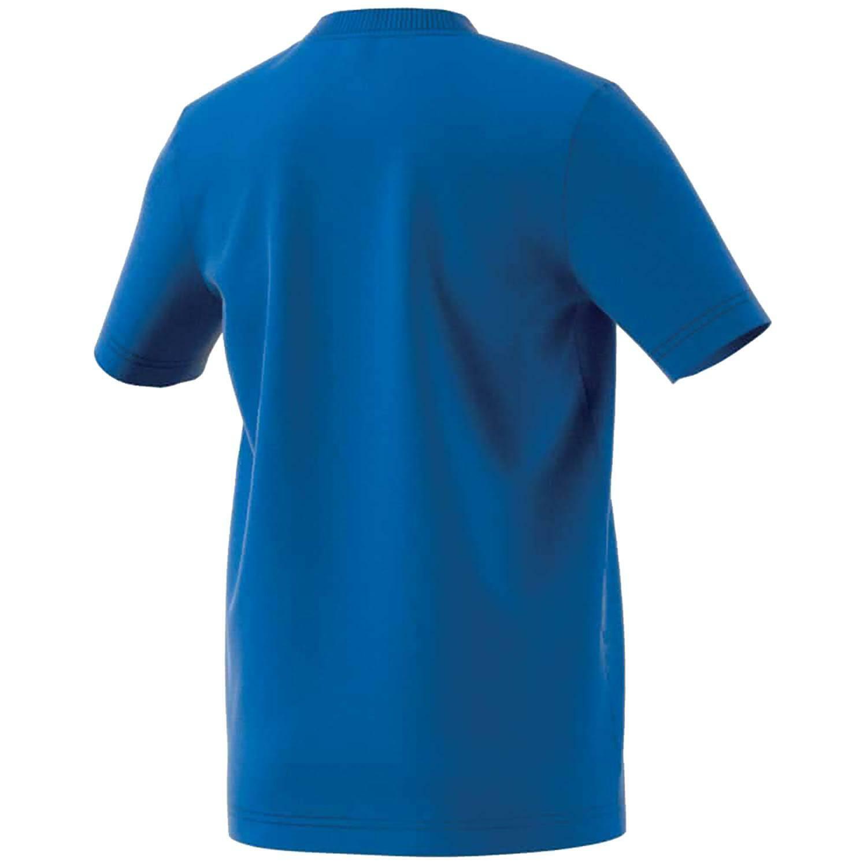 adidas yb mh bos t t-shirt bambino blu dv0818