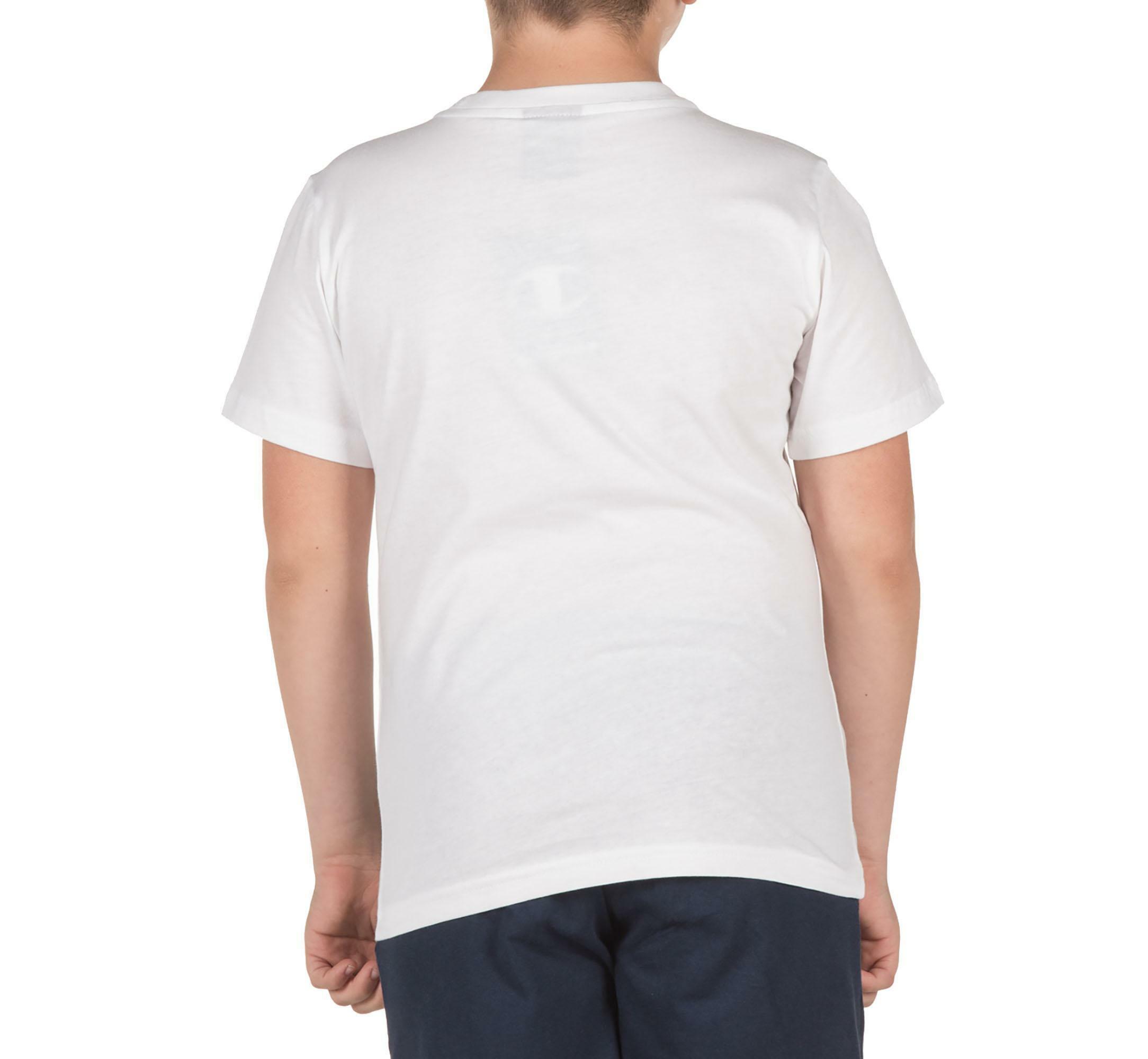 champion champion t-shirt bambino bianca 304946ww001
