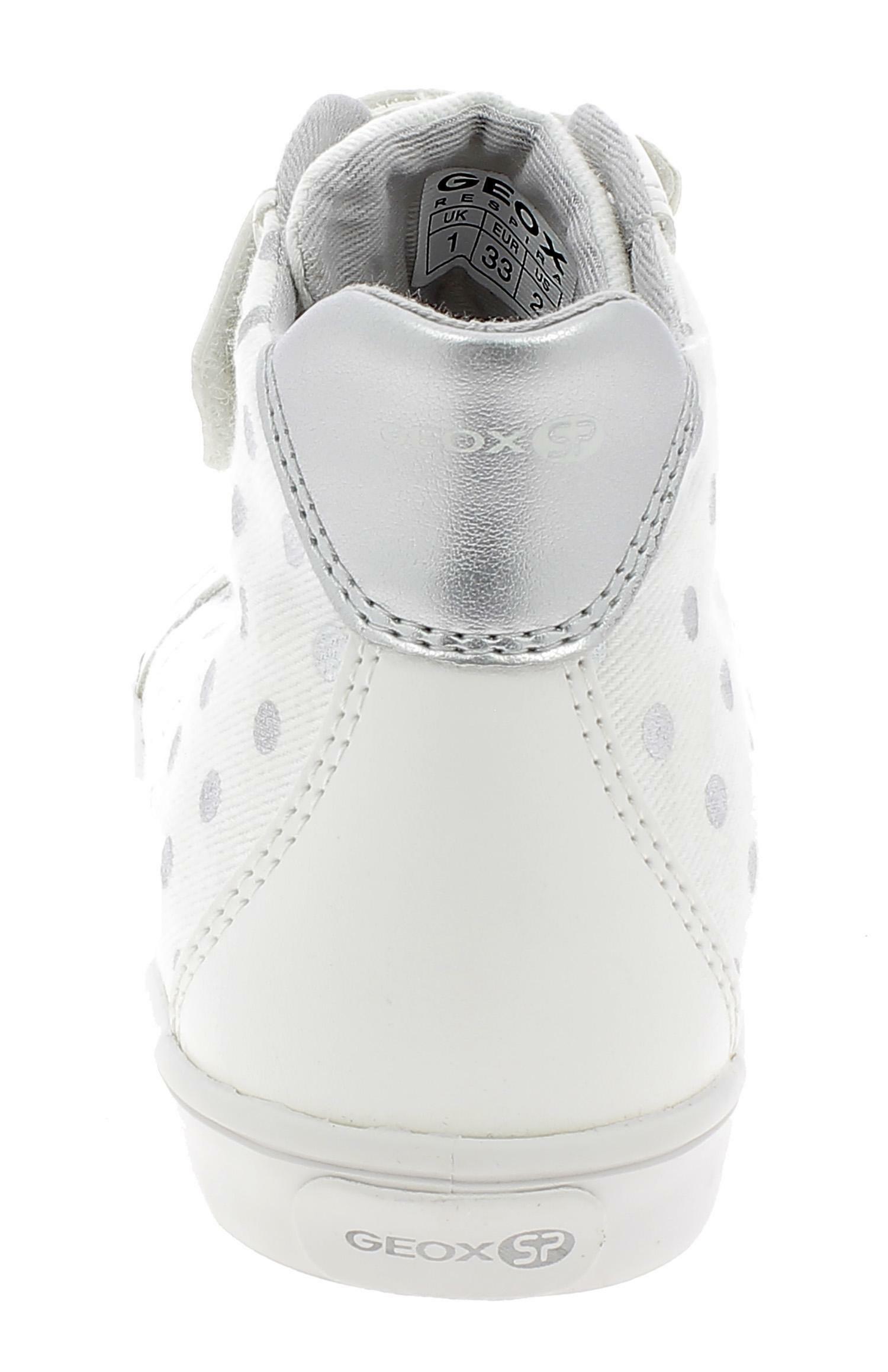 geox j gisli g scarpe bambina bianche j924nac0007