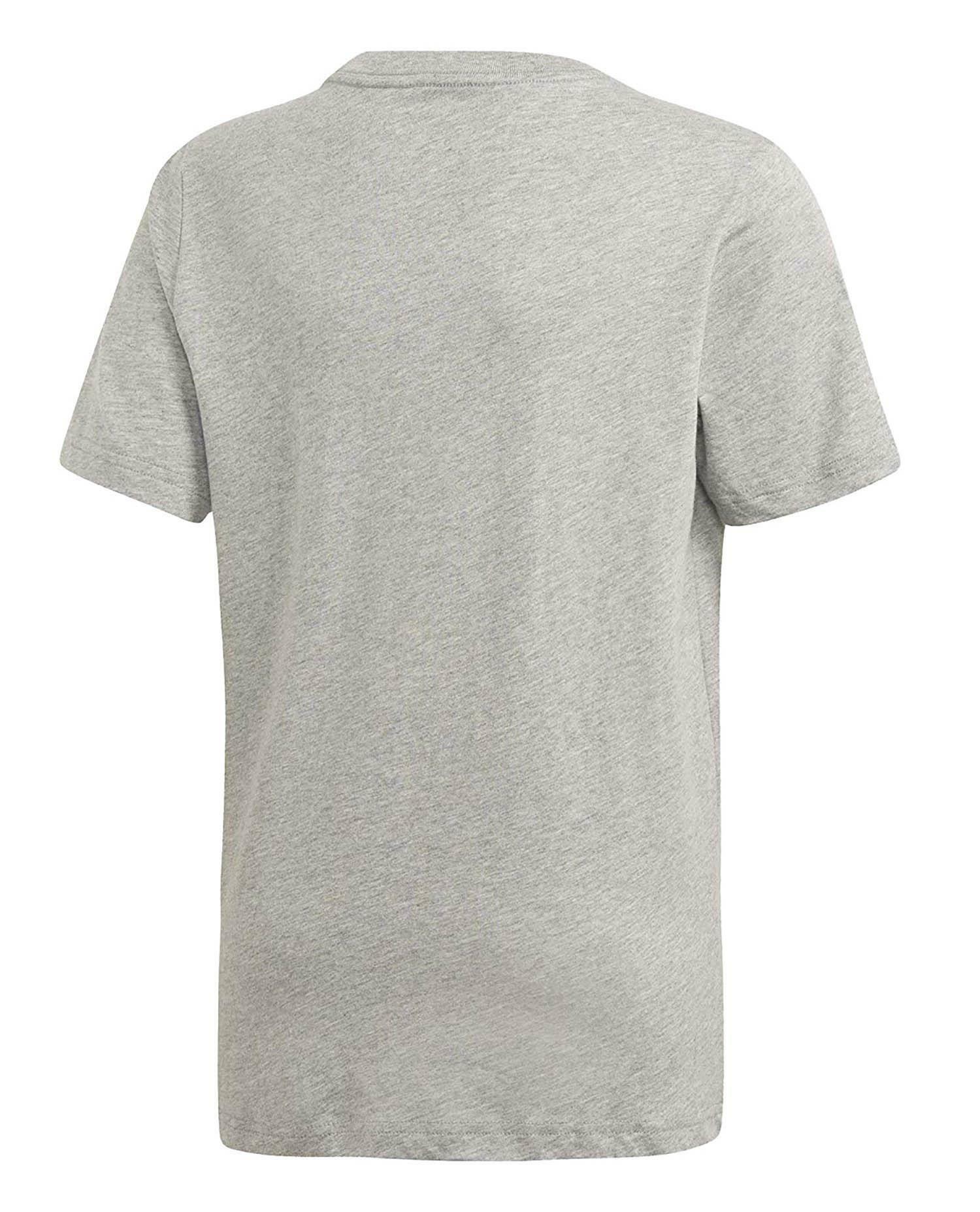adidas yb e lin tee t-shirt bambino grigia dv1816