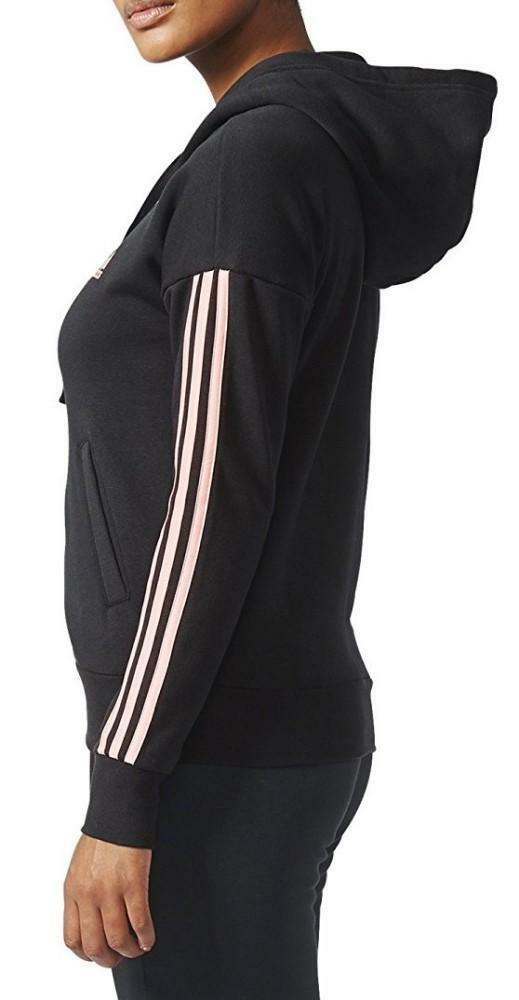 adidas adidas ess 3s fz hd giacchetto donna nero