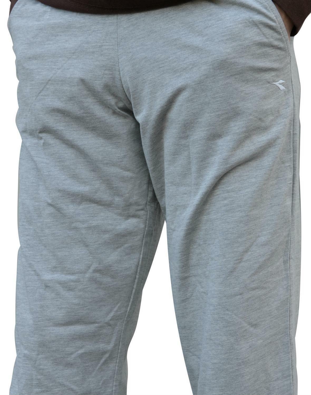 diadora pantalone tuta uomo grigio