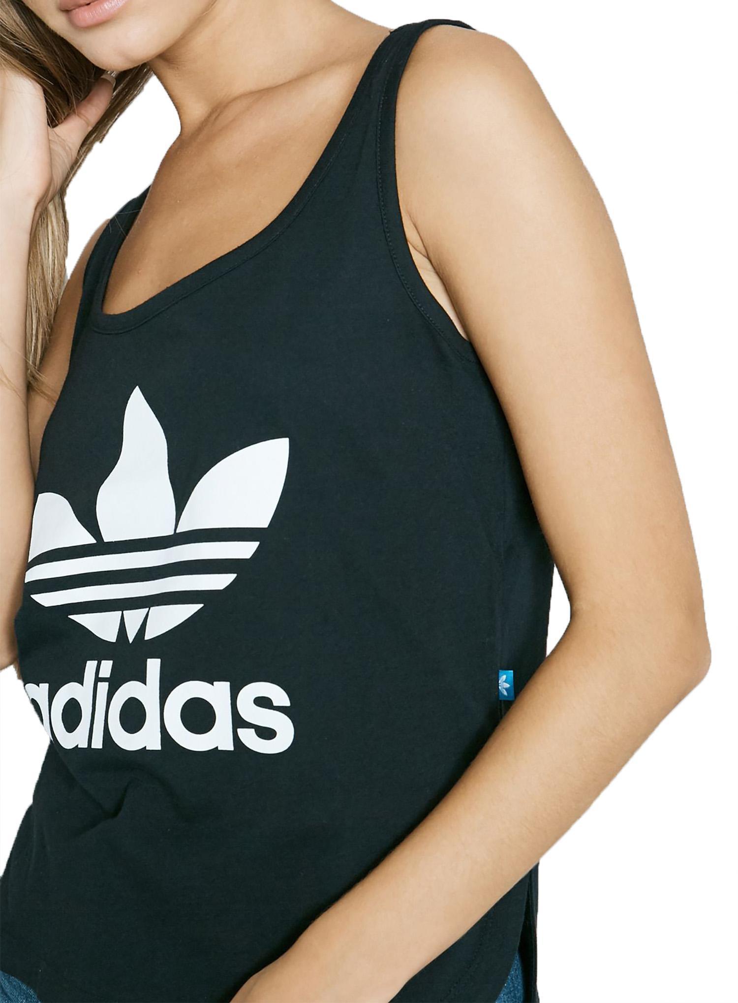adidas lose crop tank top donna nera