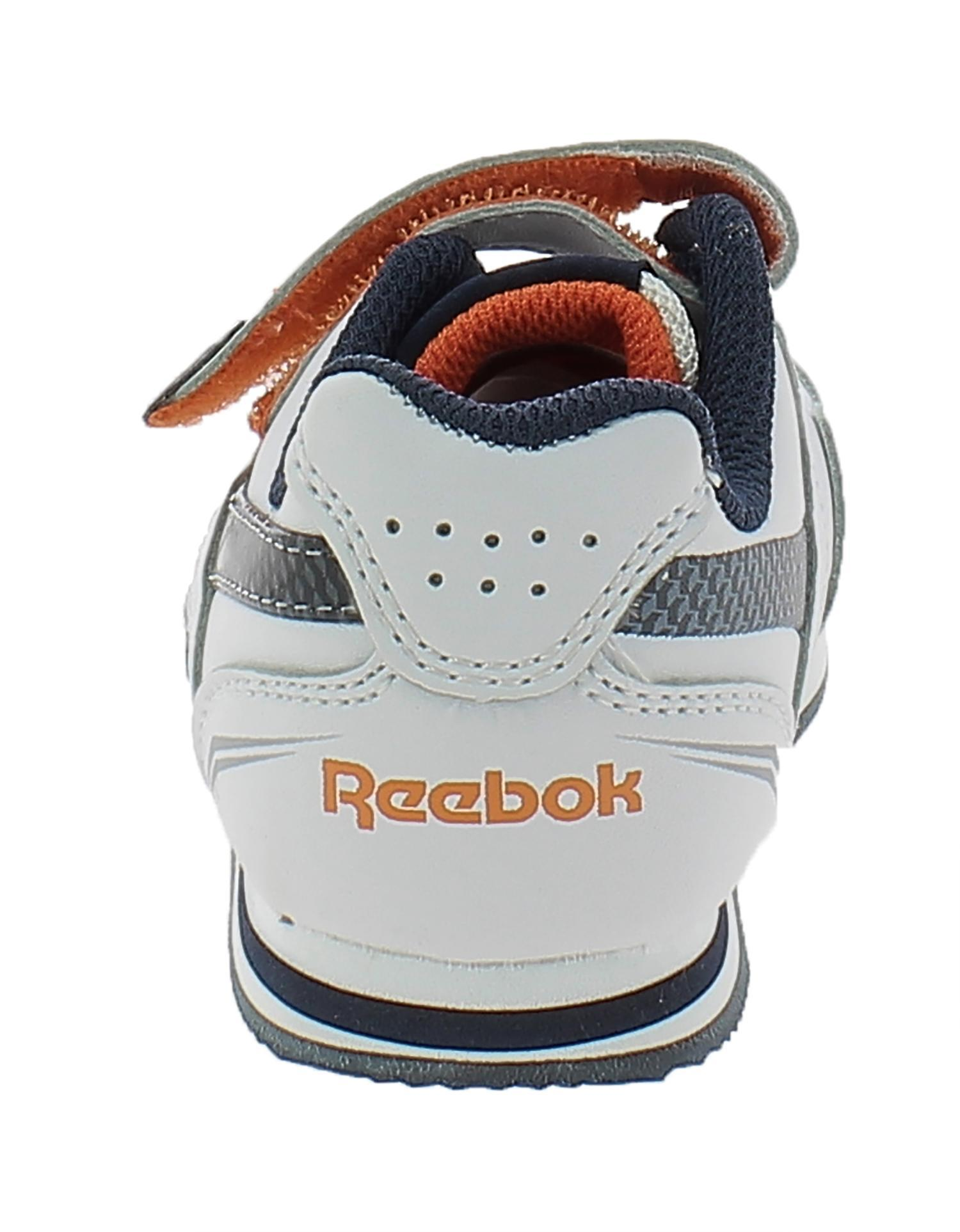 reebok reebok globeam scarpe bambino bianche blu lucette 52361