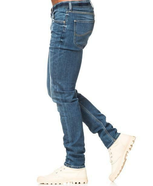 lee lee jeans uomo arvin blue denim stone wash
