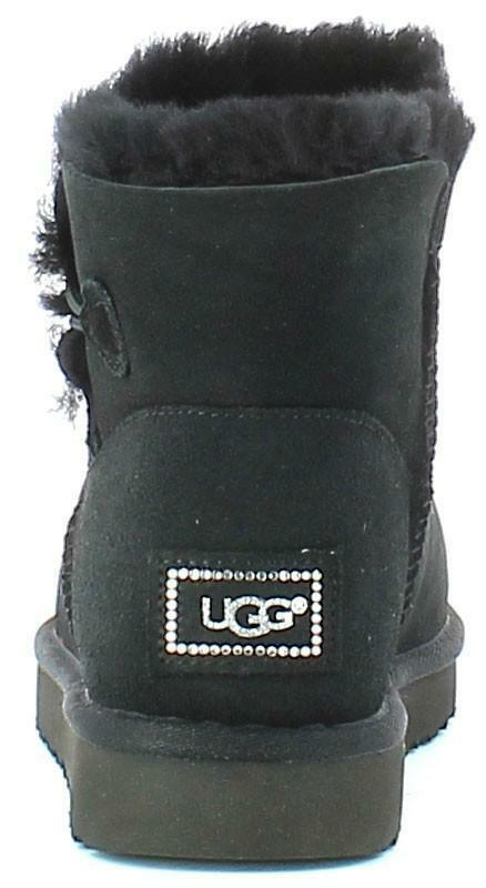 ugg mini bailey button stivali donna neri 1016554