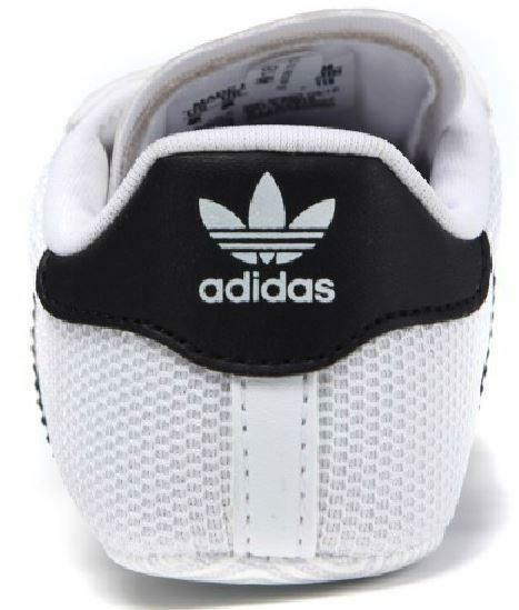 adidas adidas superstar crib scarpe sportive culla bianche nere