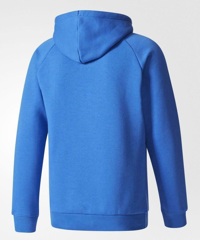 adidas adidas trefoil hoody felpa uomo cappuccio blu