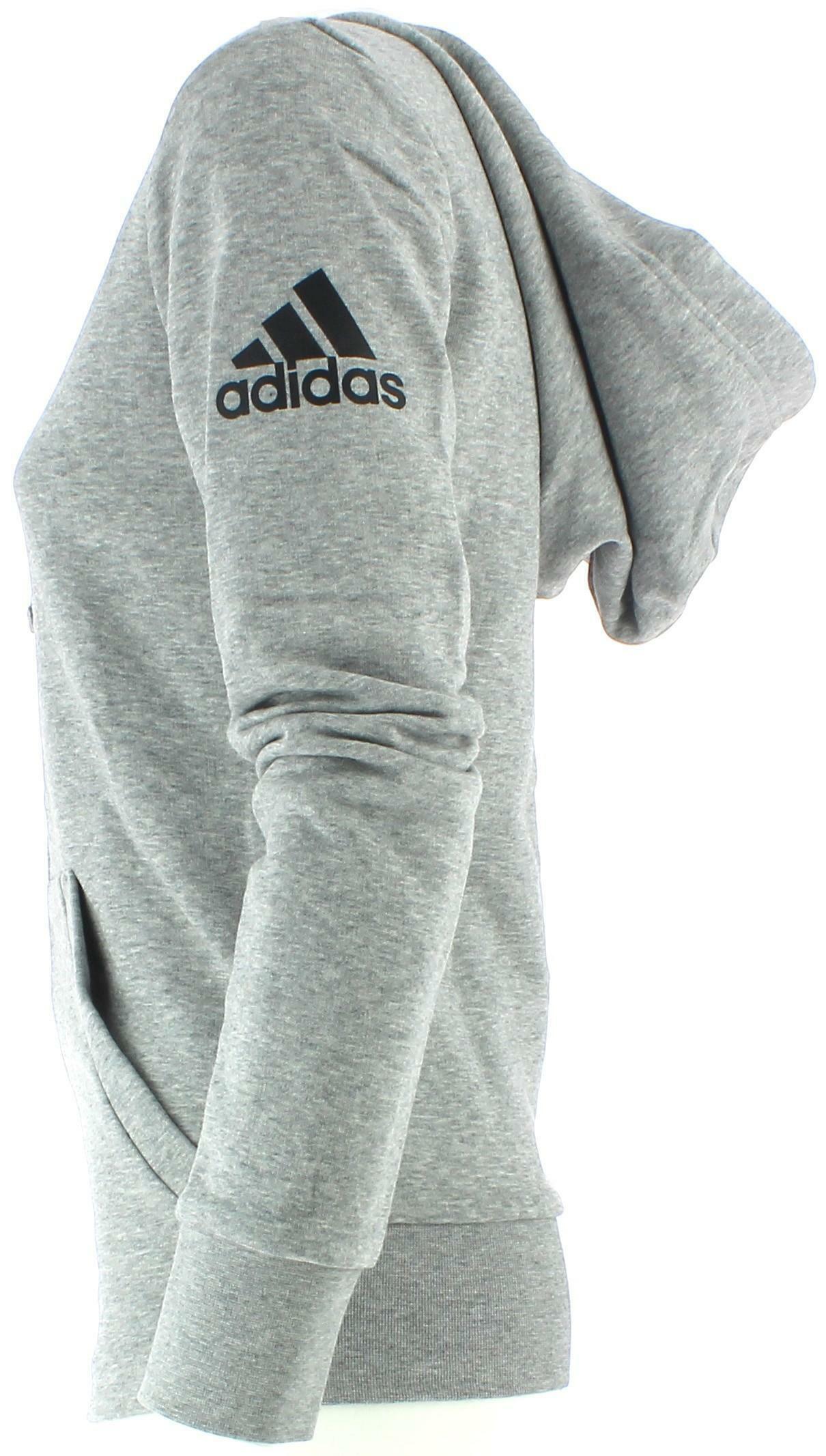 adidas solid fz felpa donna zip grigia s97086