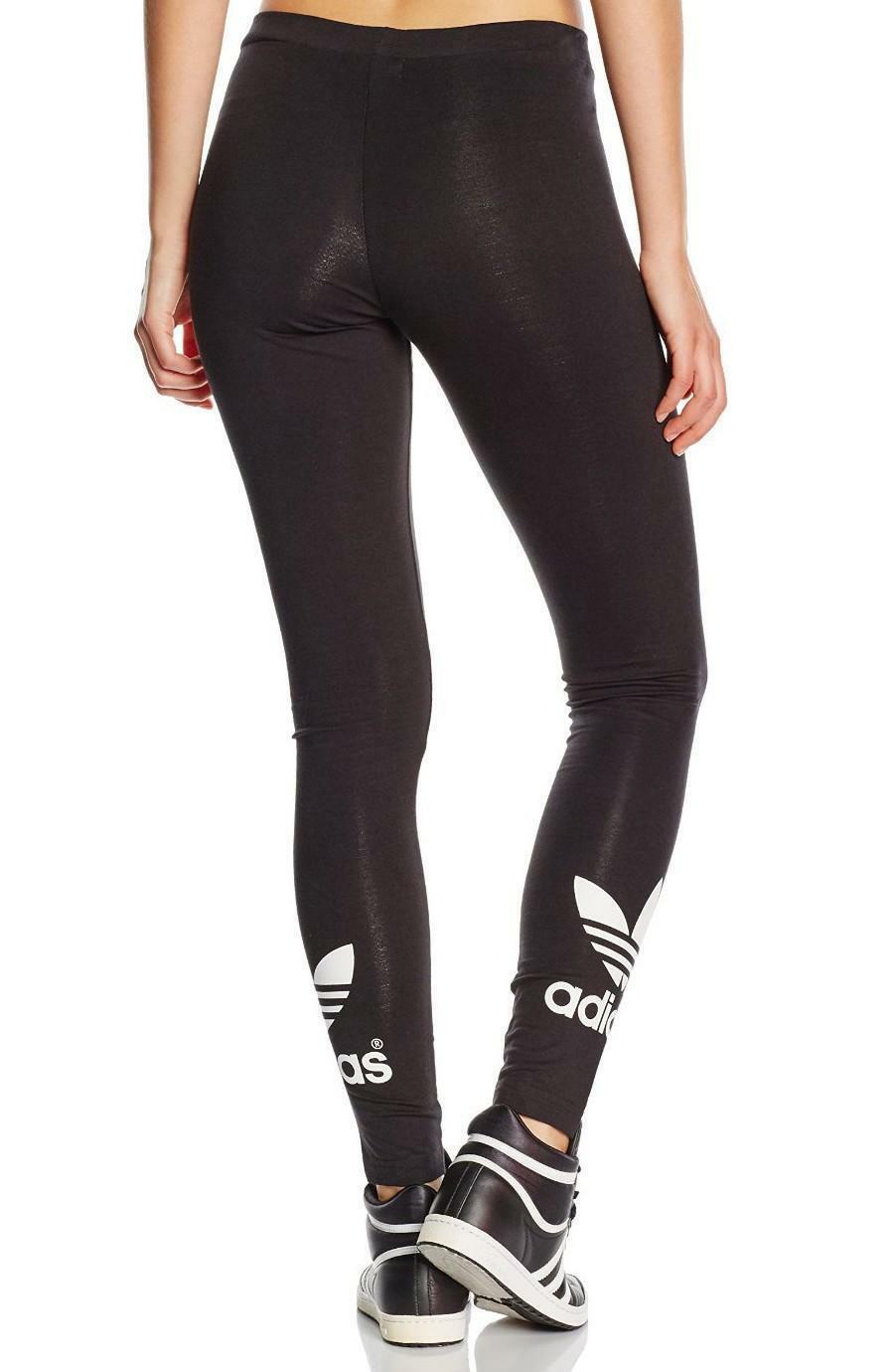 Adidas trf leggings donna cotone elasticizzati neri