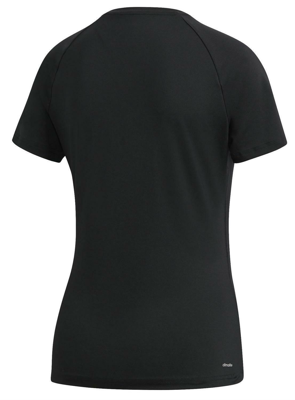 adidas adidas d2m solid t-shirt donna nera