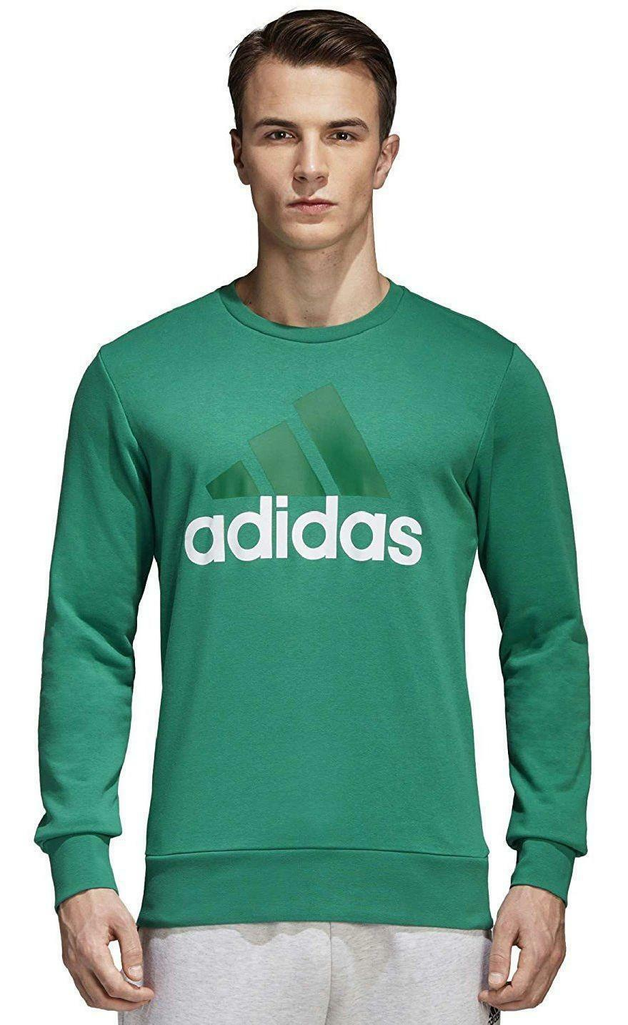adidas adidas ess biglog crew felpa uomo verde cf1681