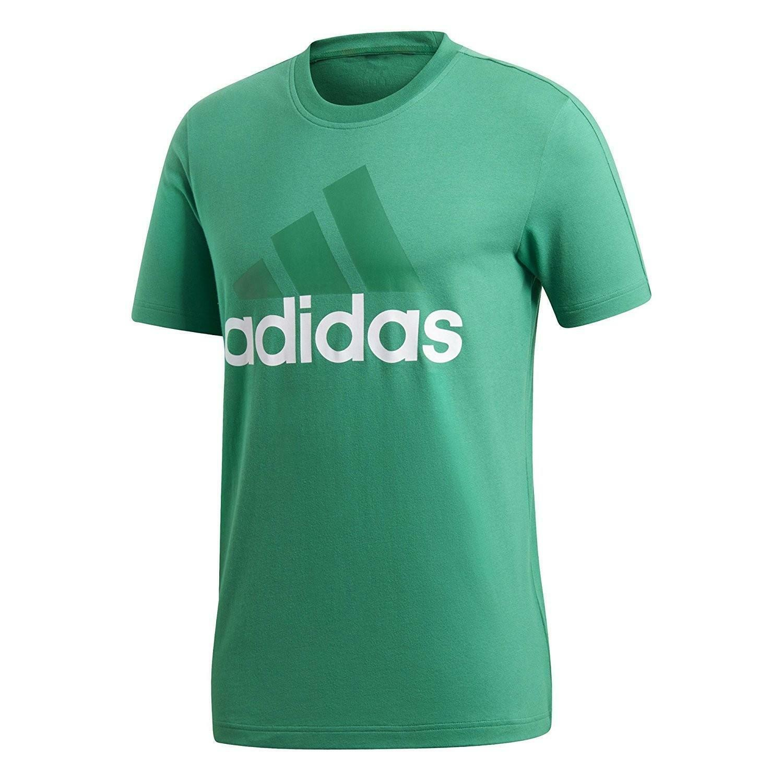 adidas adidas ess linear tee t-shirt uomo verde