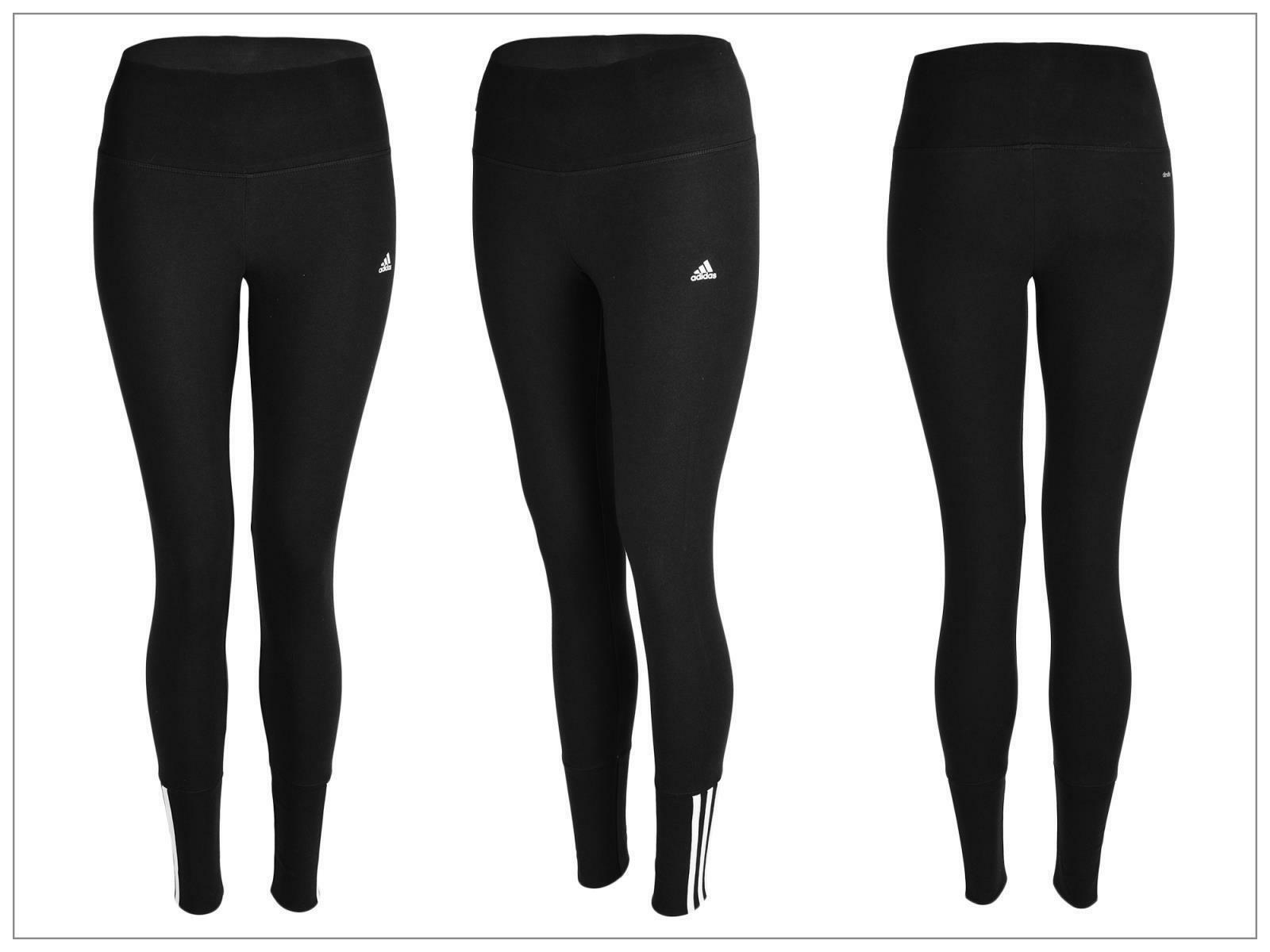 adidas adidas essential mid 3s tights pantaloni aderenti jogging donna neri s18820