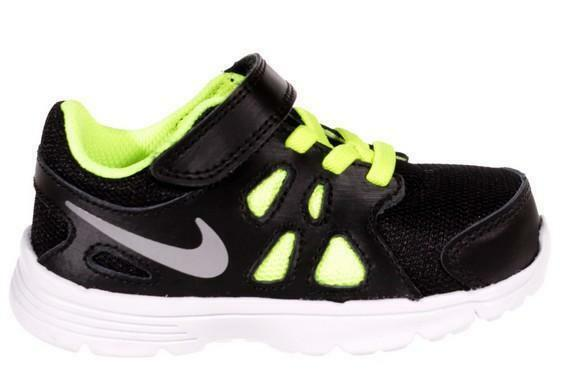 nike nike revolution 2 tdv scarpe sportive bambino nere pelle tela strappi 555084