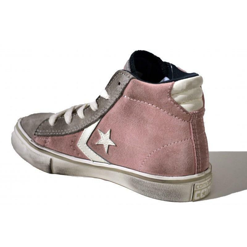 converse converse pro leather vul dusty pink scarpe sportive bambina rosa vintage 646661c