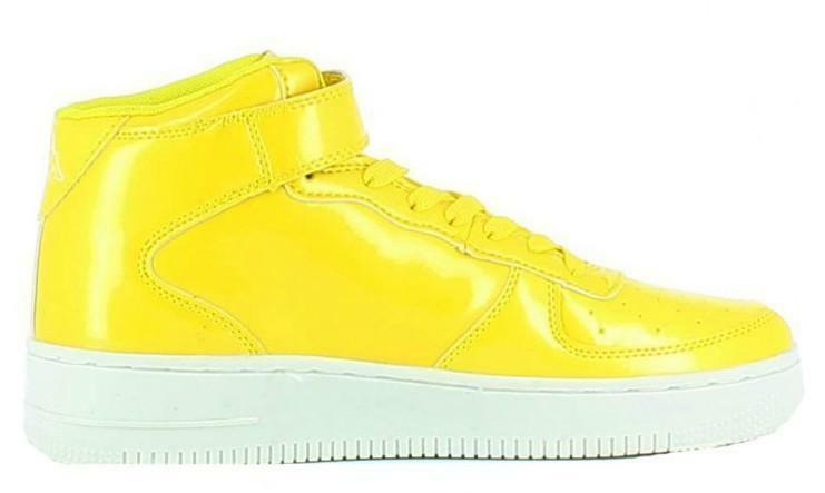 kappa kappa caserta mid scarpe sportive alte gialle