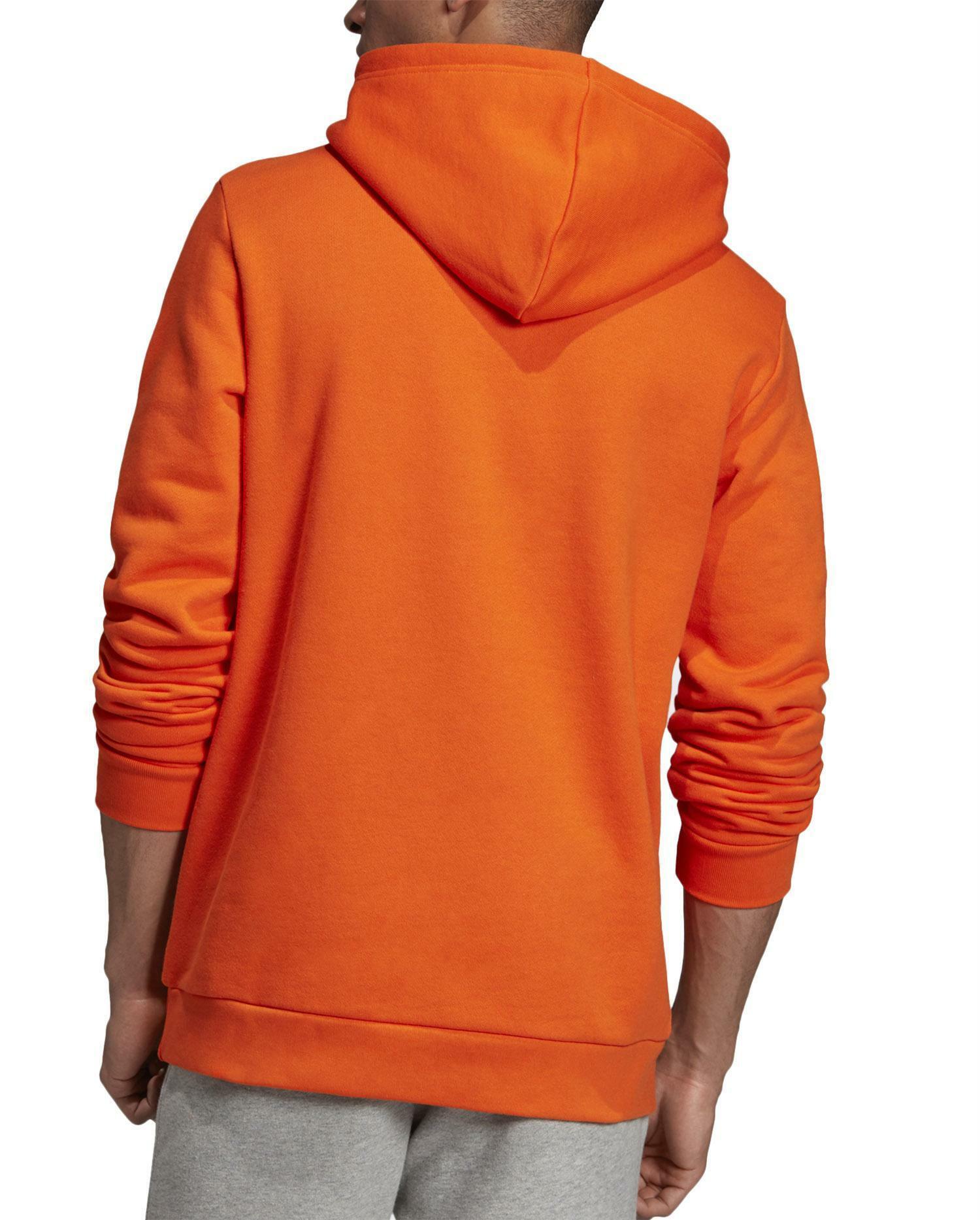 felpa arancione adidas