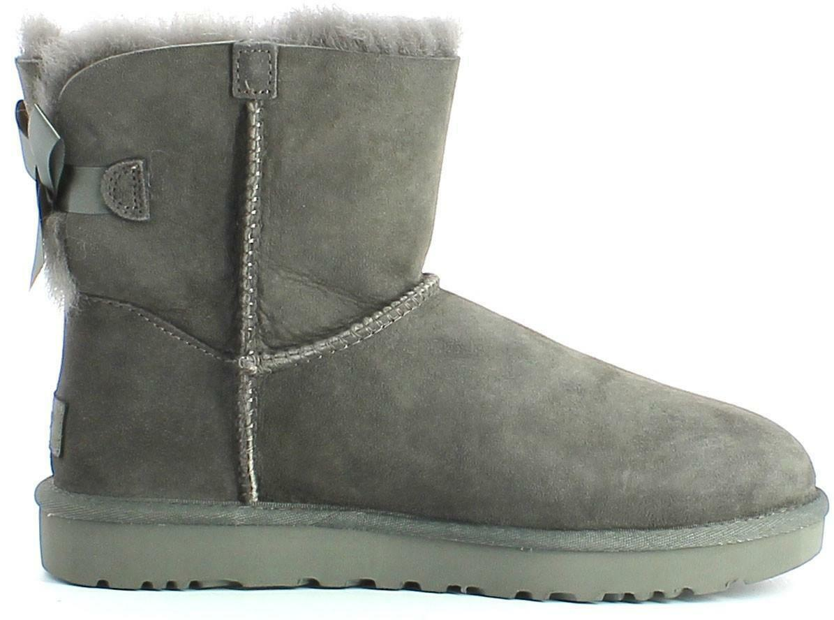 ugg ugg mini bailey bow ii stivali donna grigi