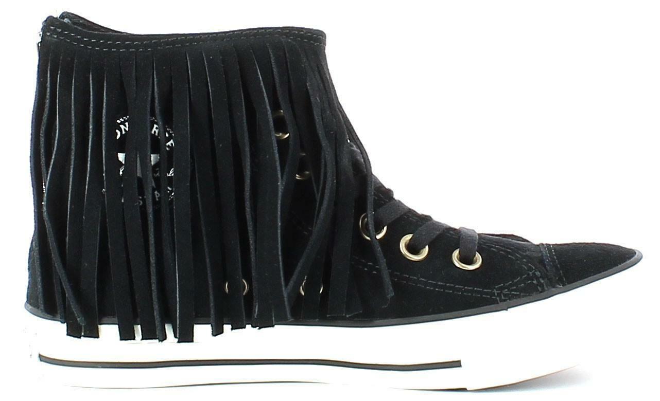converse converse all star ctas fringe suede scarpe sportive donna nere