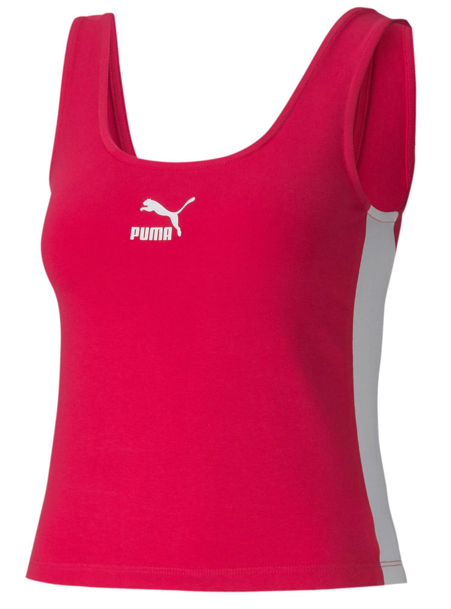 puma classics logo tank canotta donna fucsia 59621715