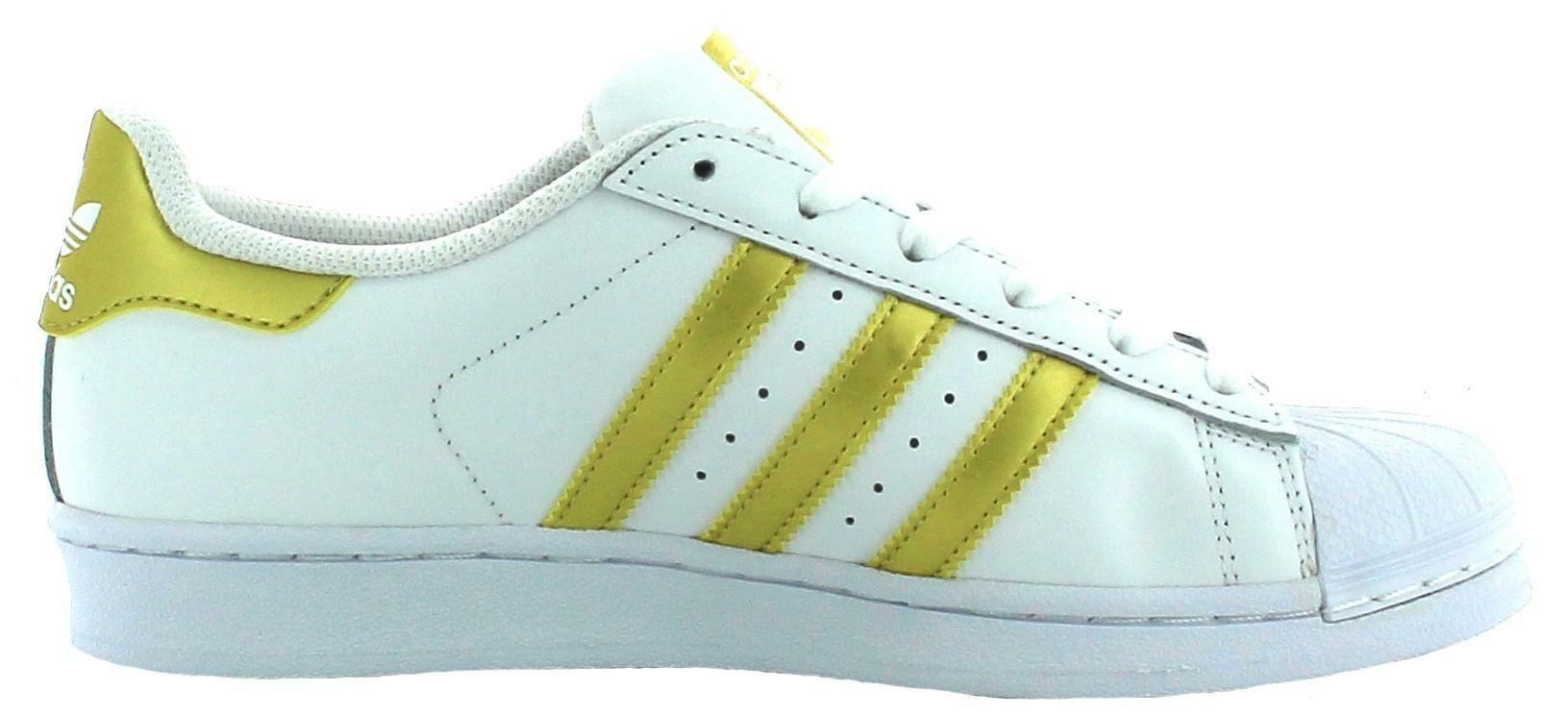 adidas adidas bb2870 superstar scarpe sportive bianche oro