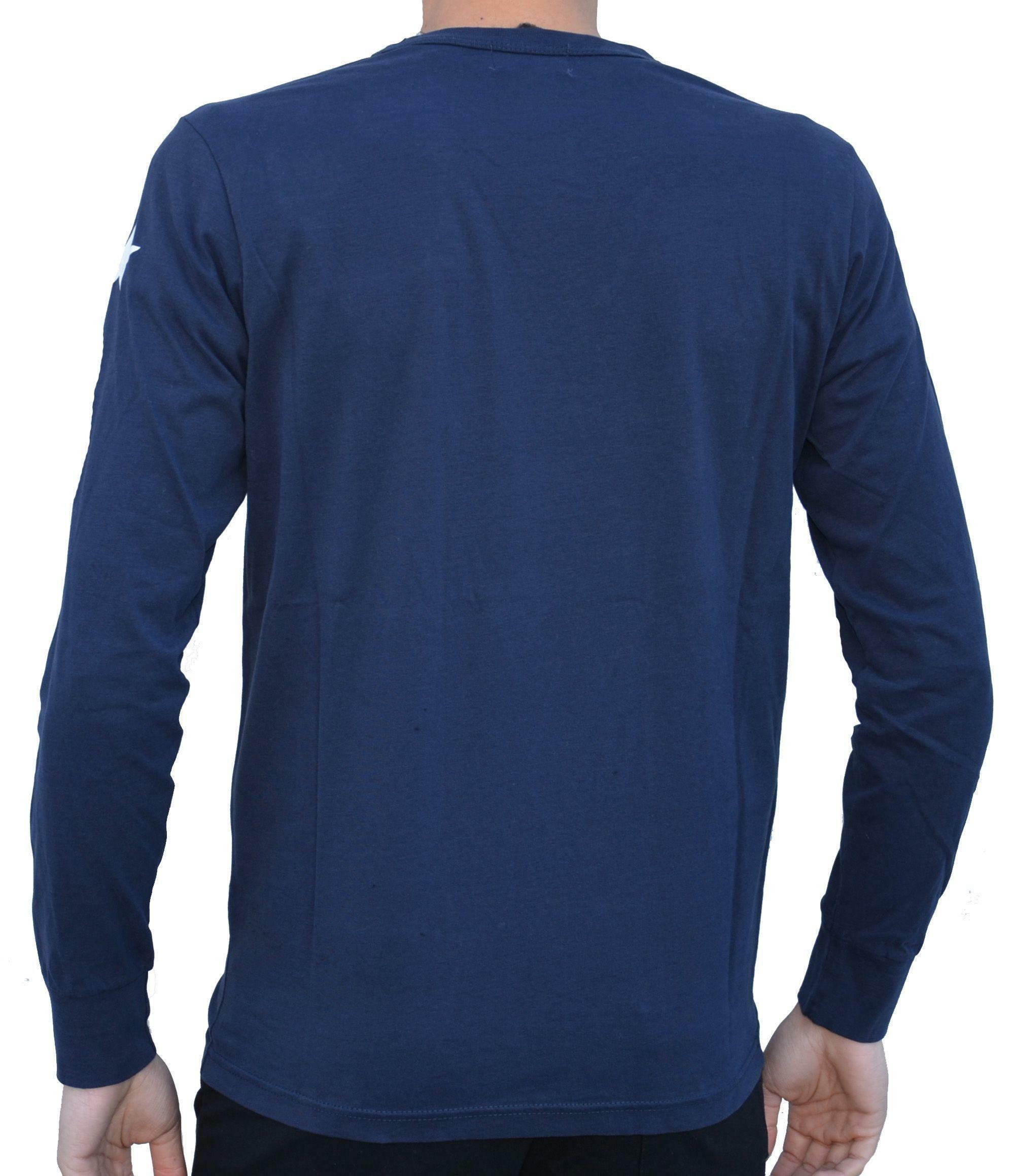 converse converse fleece  felpa logo maglia uomo blu