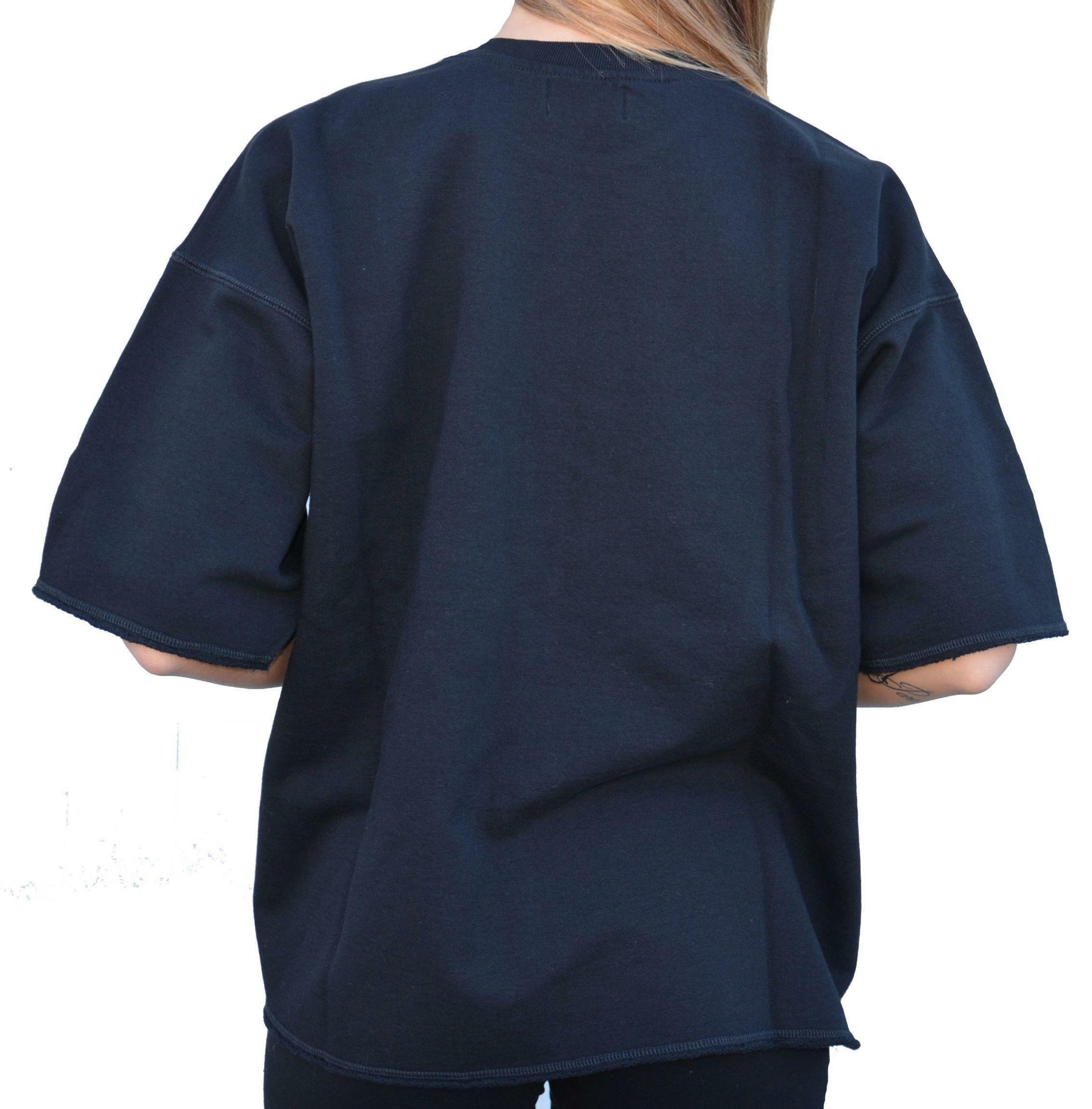 converse converse crew ctlogo t-shirt donna cotone garzato nera