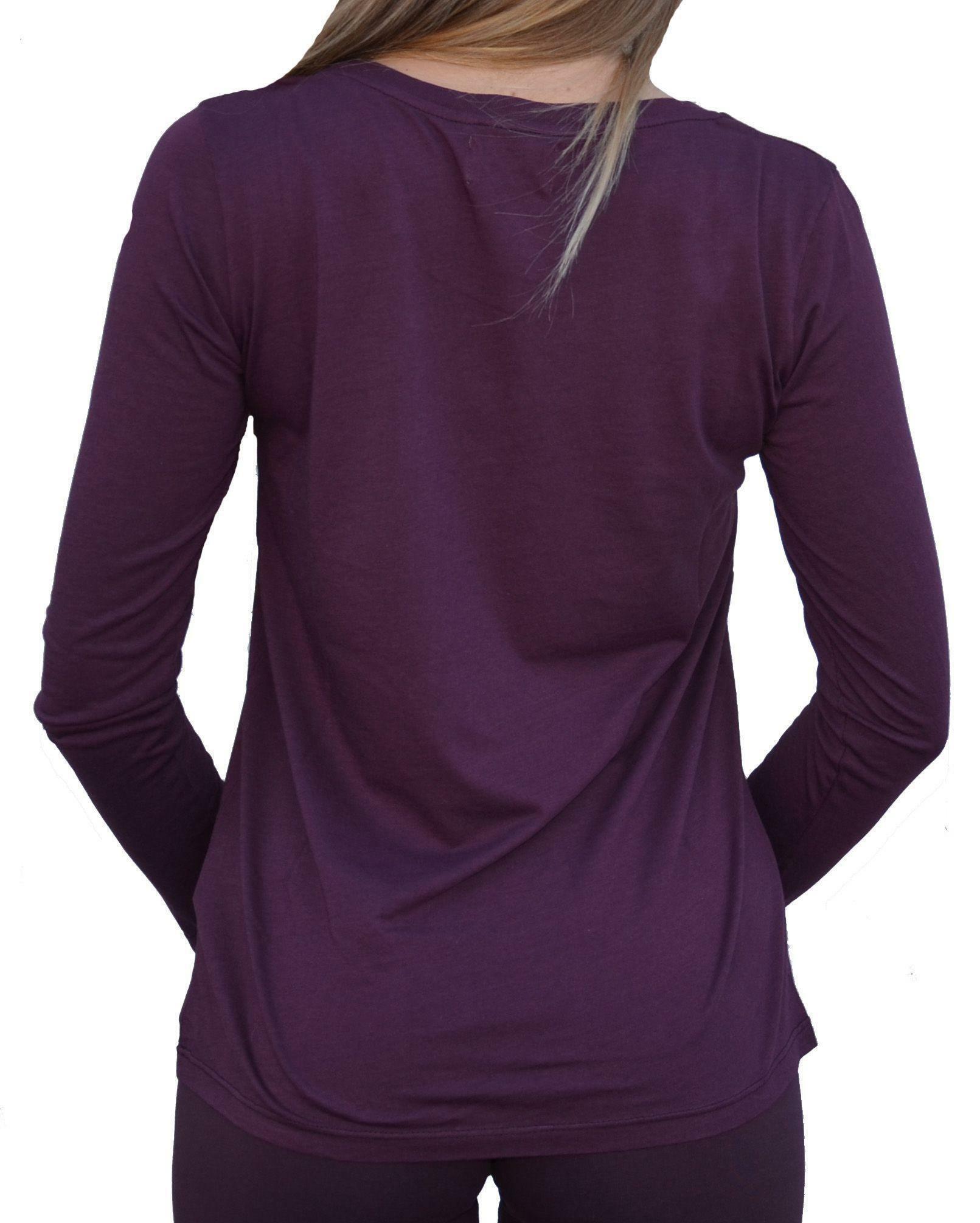 converse converse t-shirt maniche lunghe donna viola glitter