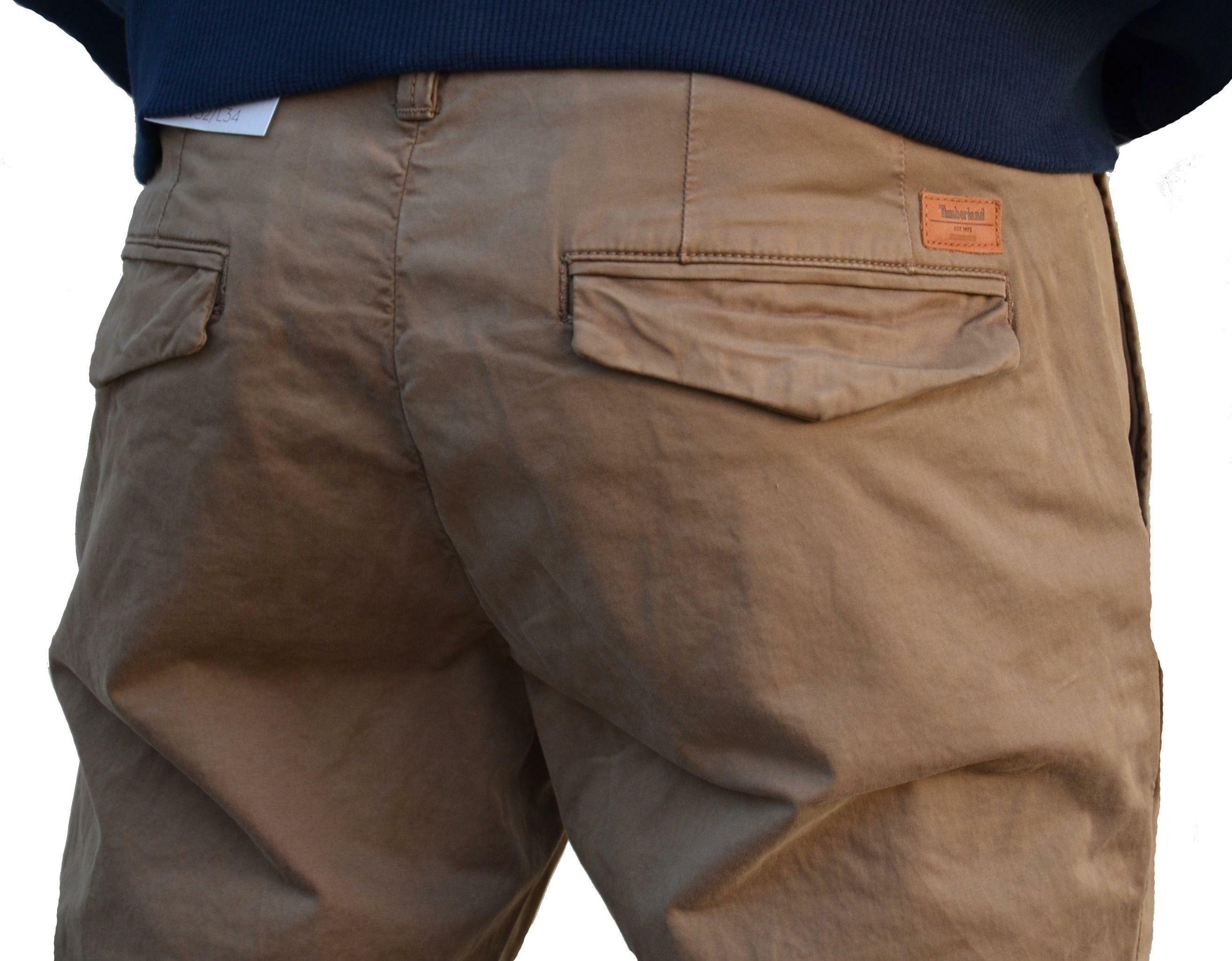 timberland timberland srgt lk slim sateen pantalone uomo marrone