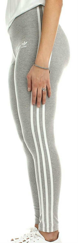 adidas adidas 3 stripes tight leggins donna grigi cy4761