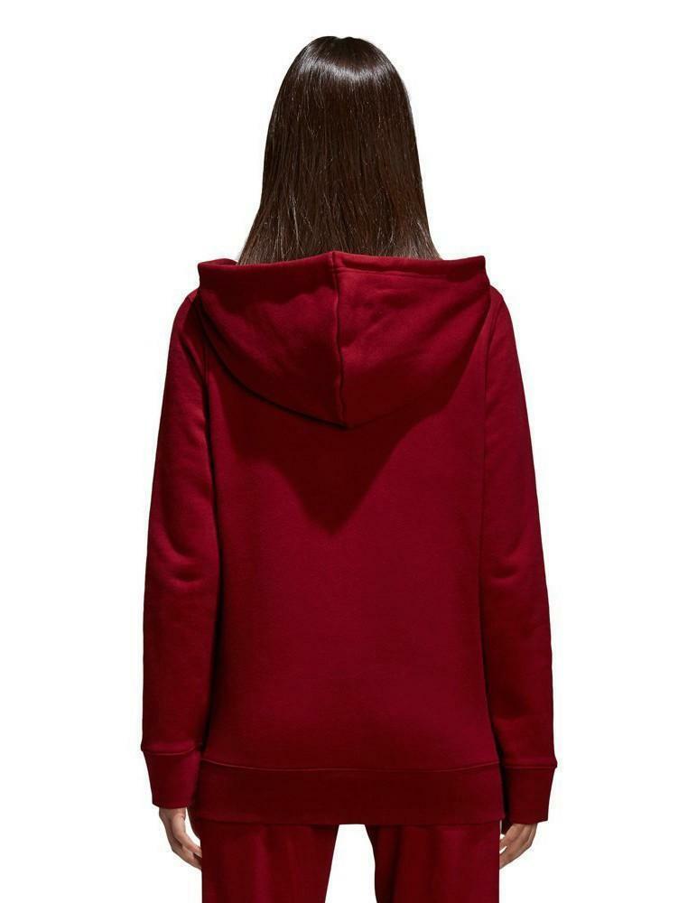 adidas adidas trefoil hoodie felpa donna bordeaux