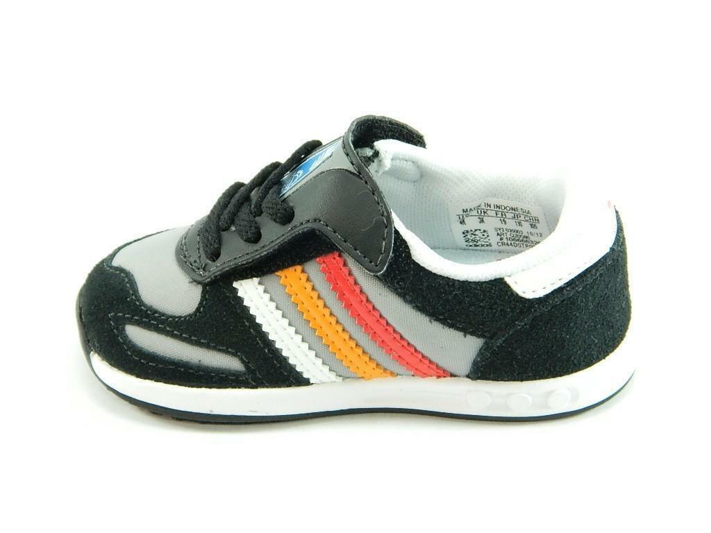 adidas la trainer scarpe sneakers bambino nere strappo q20586