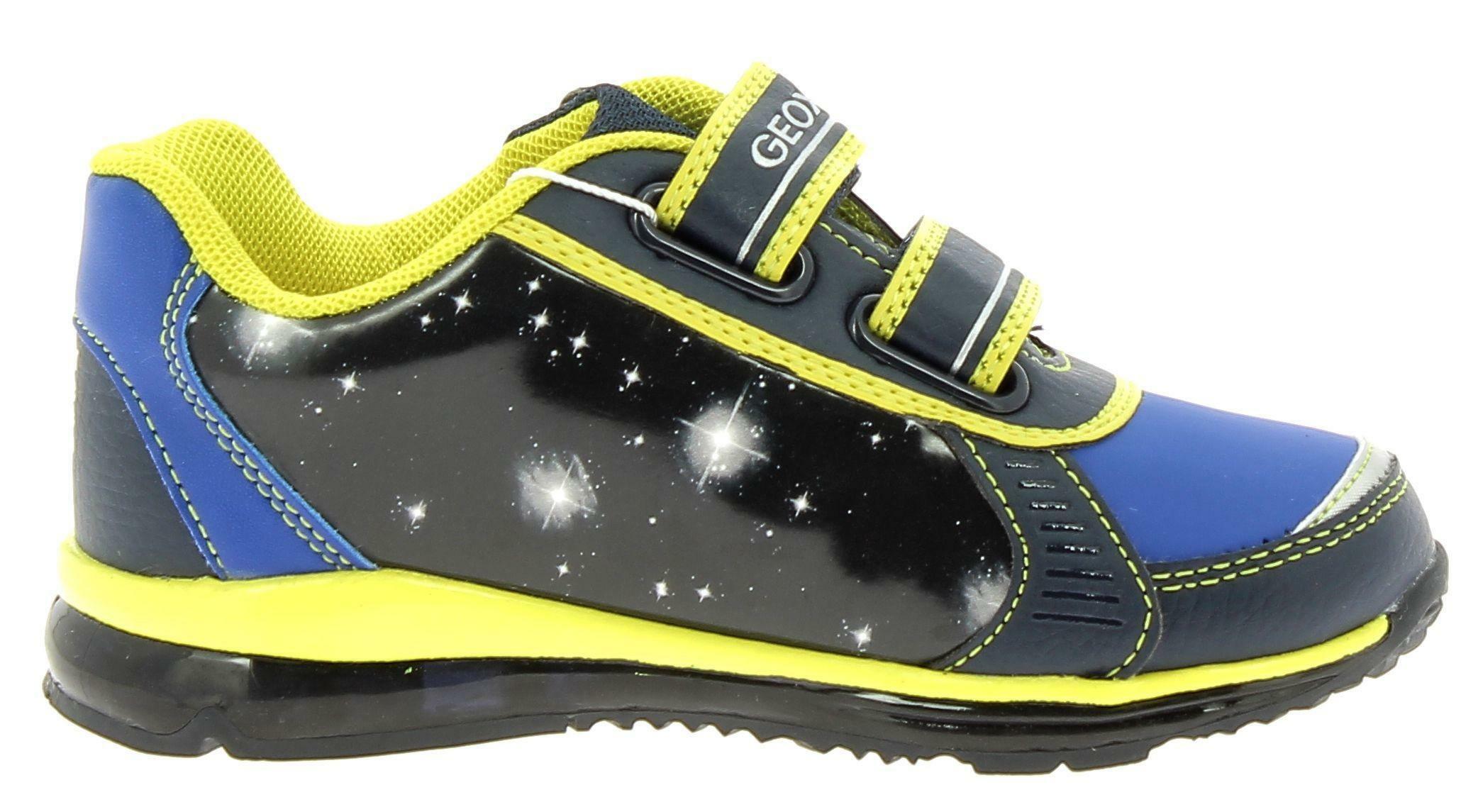 geox geox b todo scarpe sportive bambino blu luci