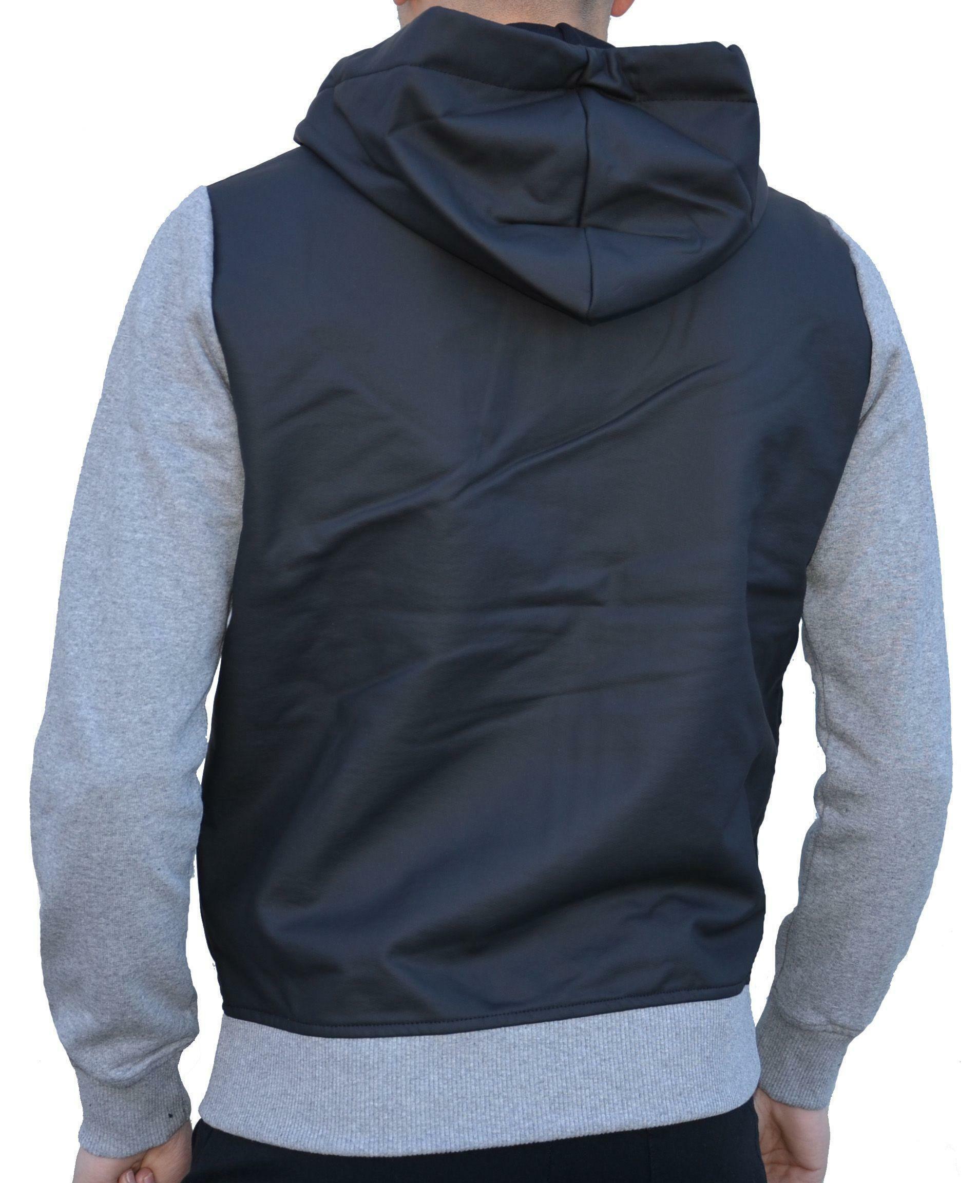 converse converse fleece track ct giacchetto uomo nero grigio