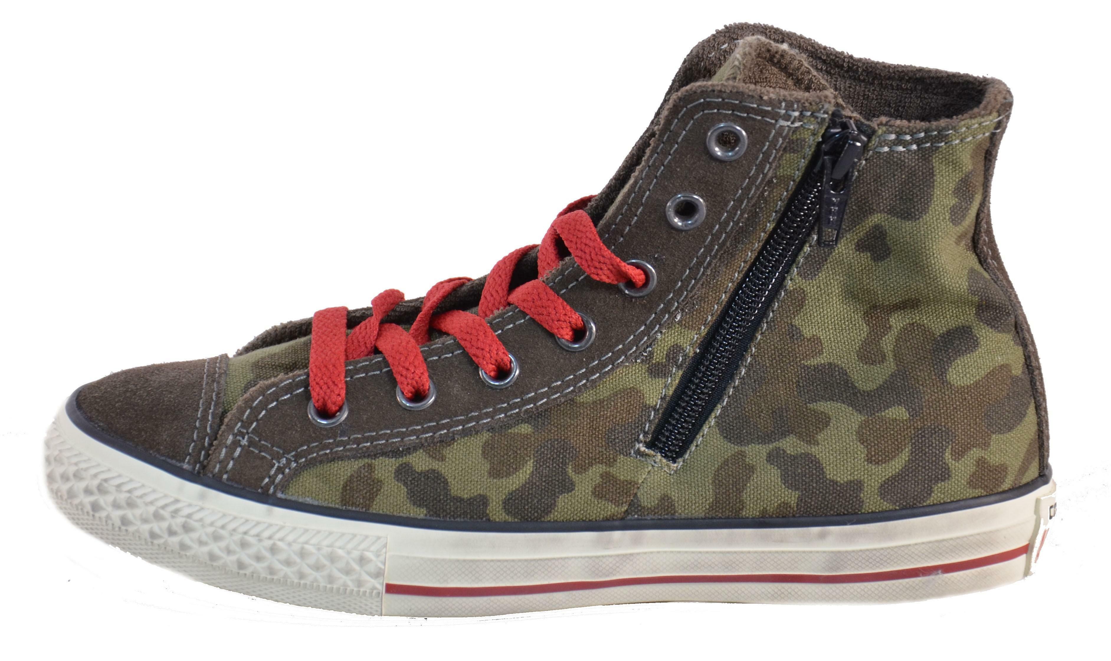 converse converse all star ct side zip scarpa verde lacci zip 641234c