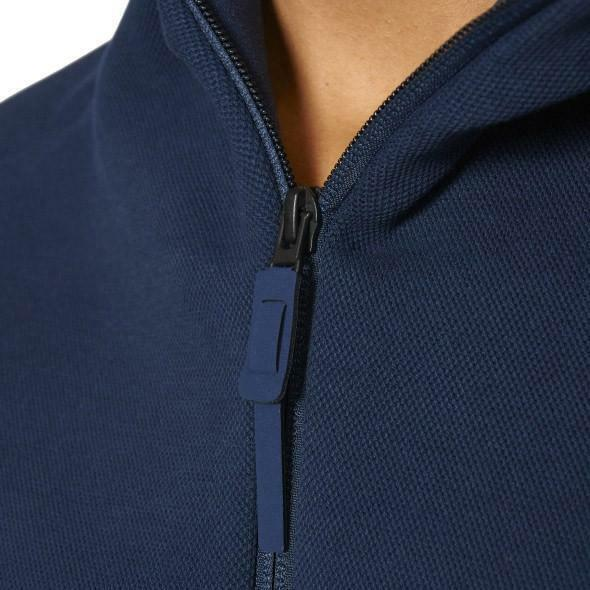 adidas adidas zne hoody felpa con cappucci zip donna blu s94560
