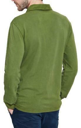timberland timberland wash piquet maglia polo uomo verde