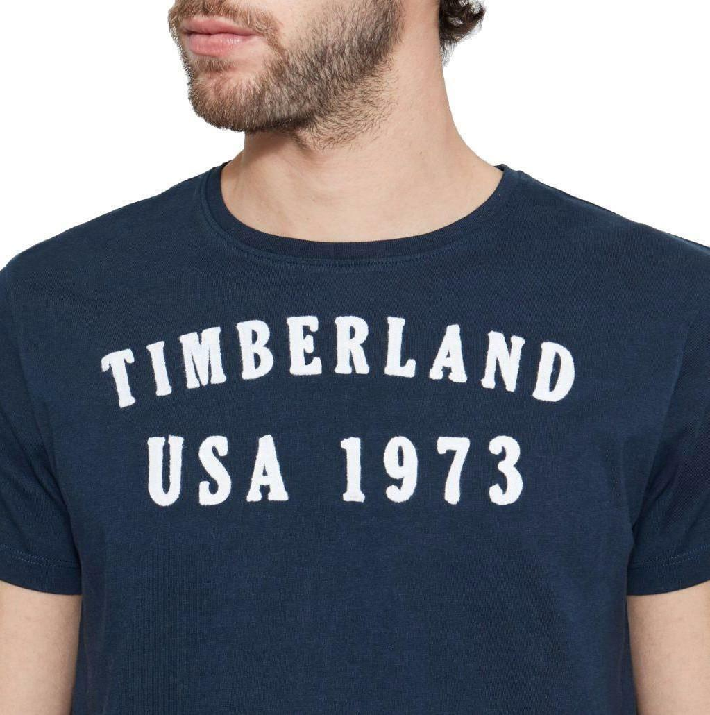 timberland timberland ss brand plus t-shirt uomo blu