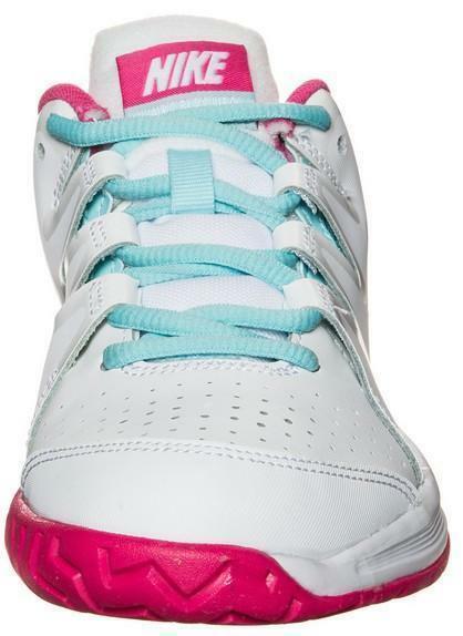nike nike vapor court gs scarpe sportive bambina bianche pelle 633308