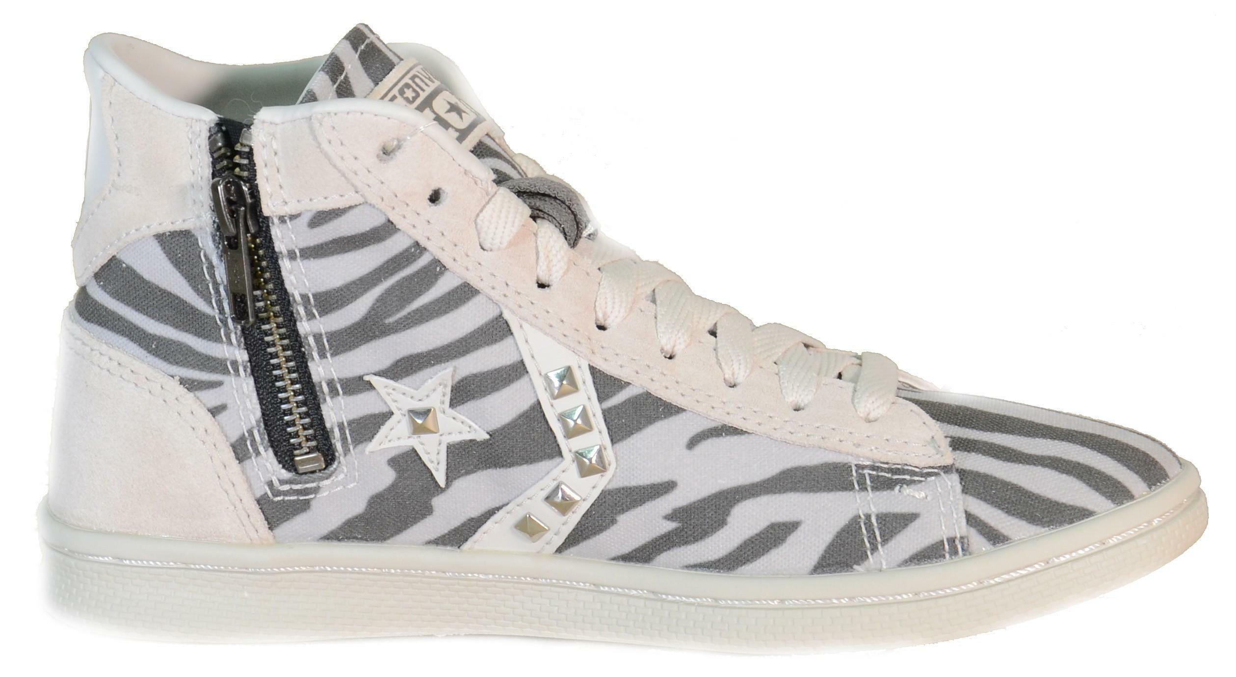 converse converse pro lthr lp zip scarpe donna zip vaporous zebrata 143738