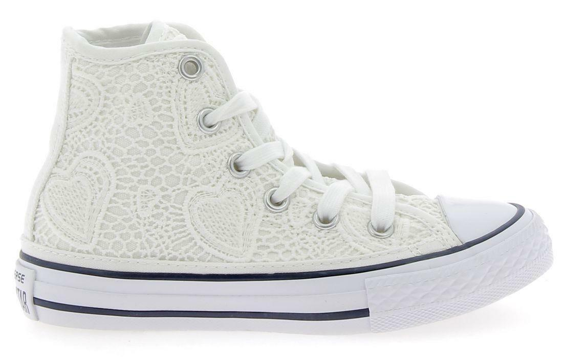 converse converse ctas hi scarpe sportive bianche con ricamo 661036